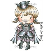 Bat Girl Marci (w/ Sentiment) Stamp